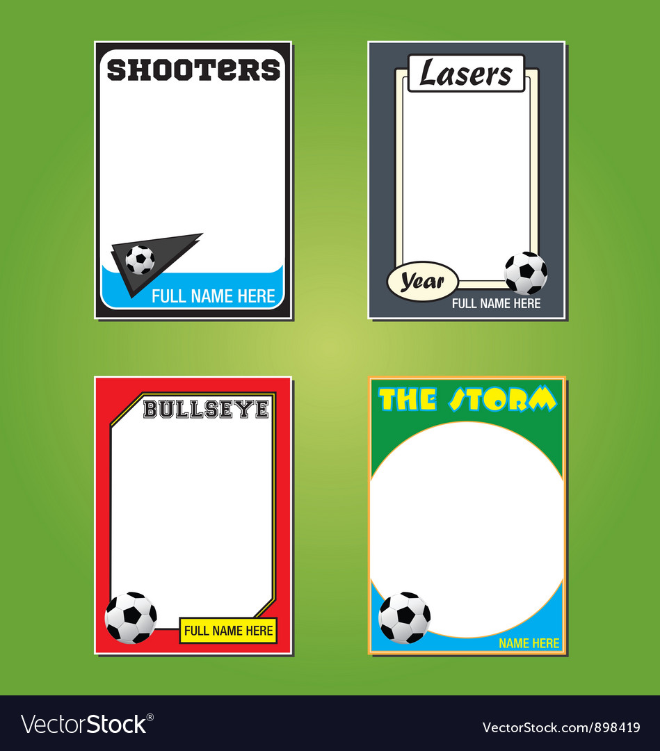Soccer futol cards vector | Price: 1 Credit (USD $1)