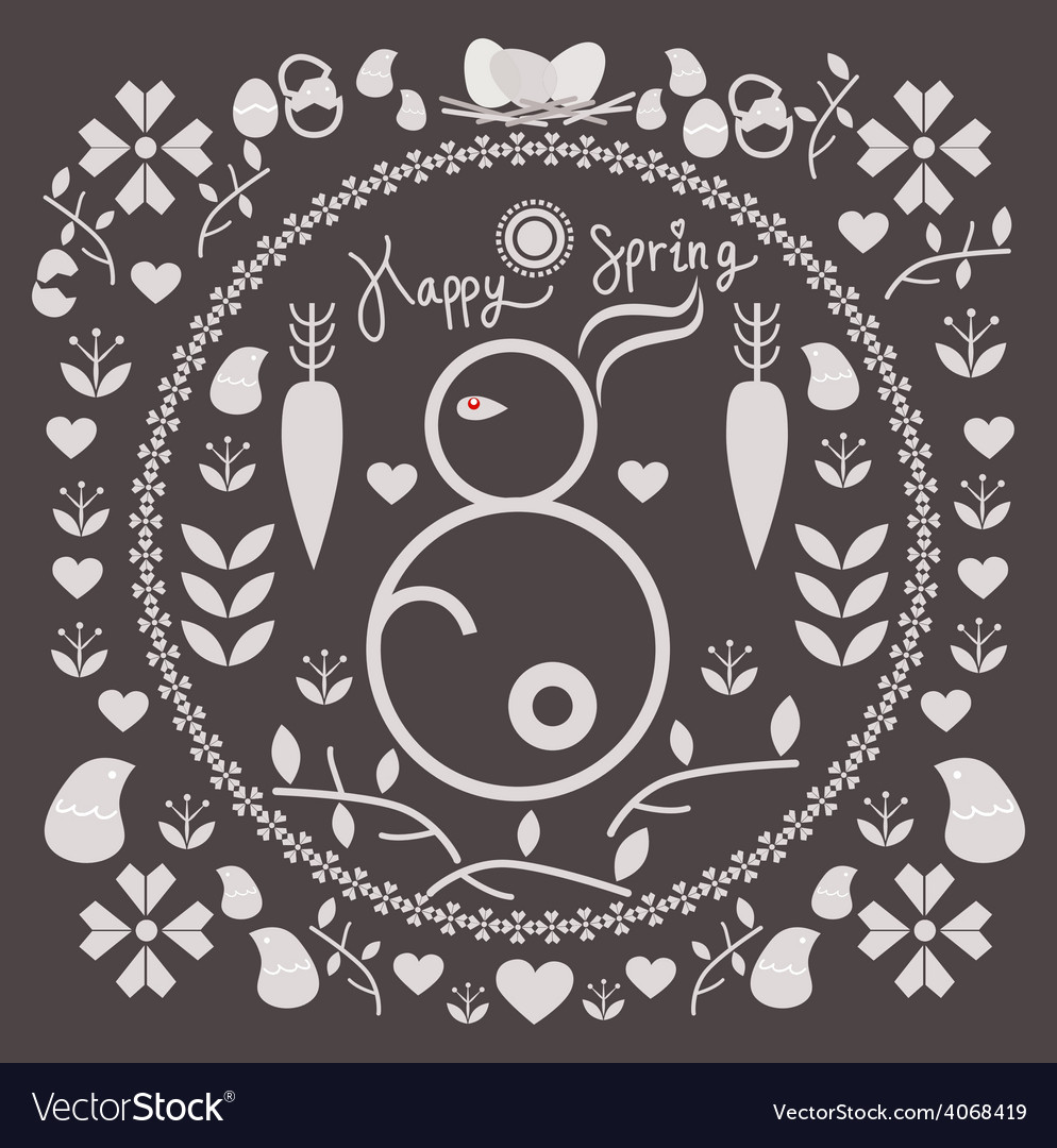 Spring and easter for design vector | Price: 1 Credit (USD $1)