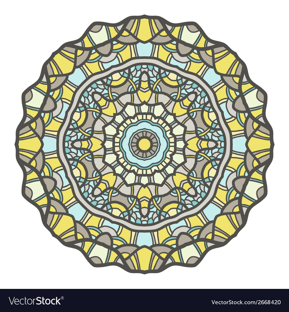 Circular decorative ornament mandala design arabic vector | Price: 1 Credit (USD $1)