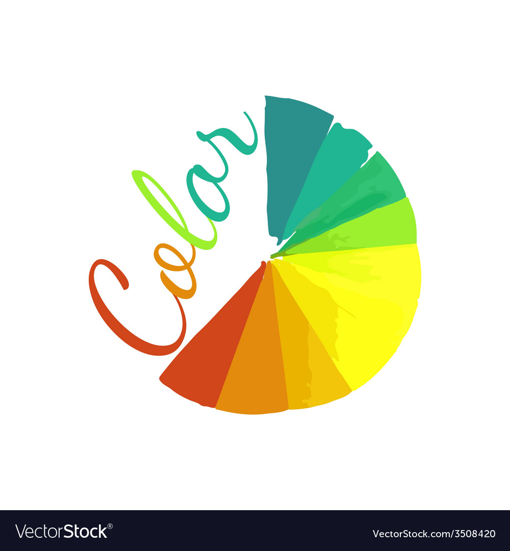Color wheel circular color palette with vibrant vector | Price: 1 Credit (USD $1)