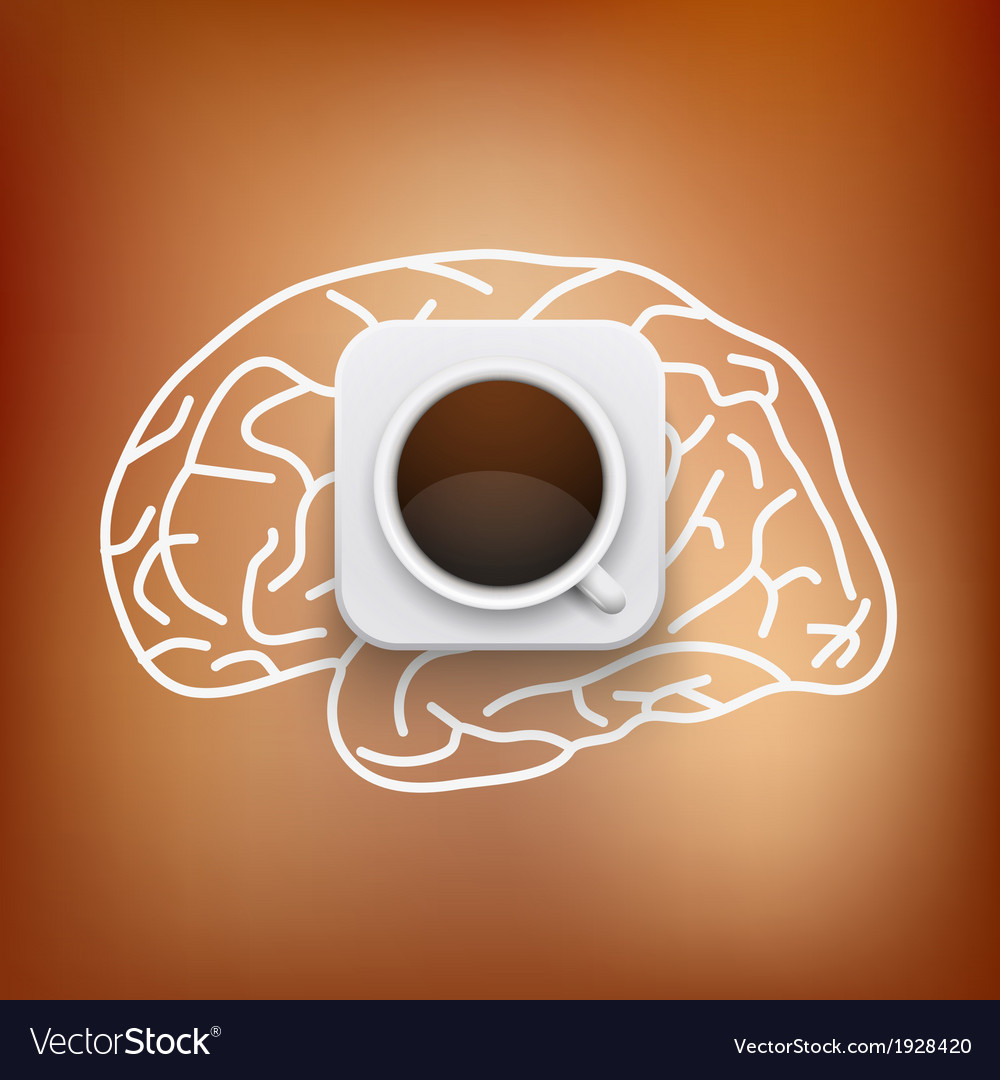 Cup of coffee and heart background vector | Price: 1 Credit (USD $1)
