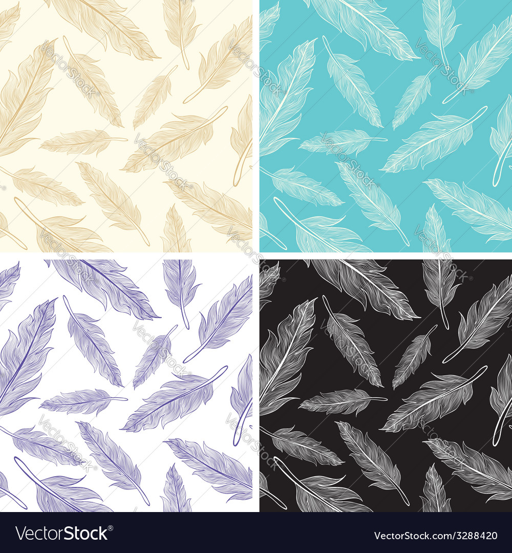 Feathers pattern vector | Price: 1 Credit (USD $1)