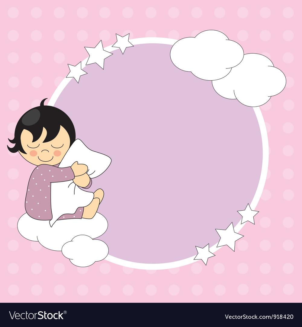 Frame baby girl vector | Price: 1 Credit (USD $1)