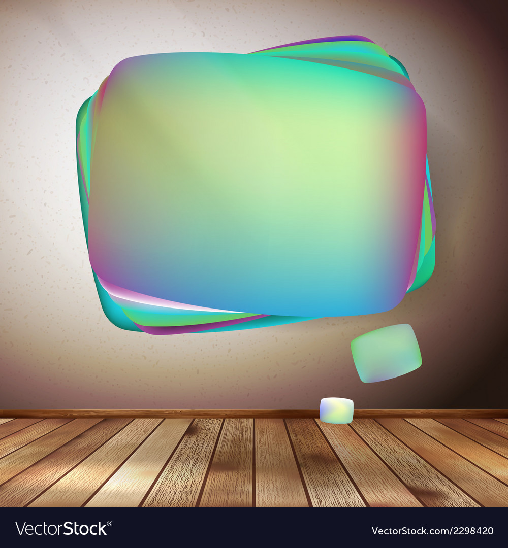 Glass bubble speech on wooden background eps 10 vector | Price: 1 Credit (USD $1)