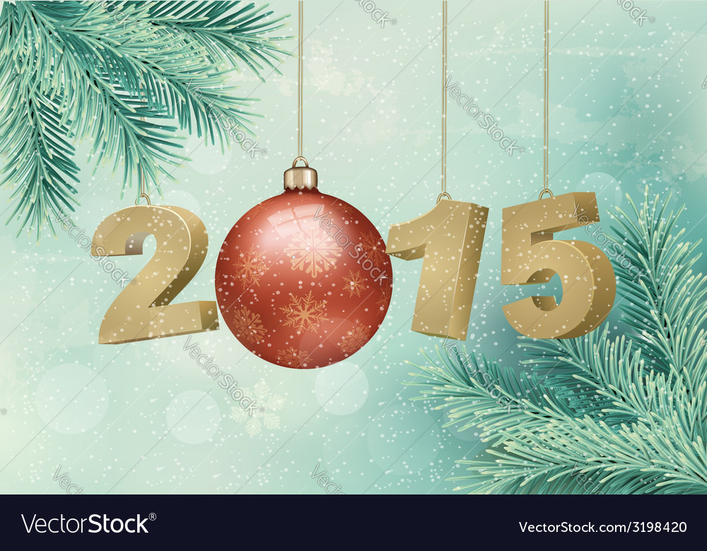Happy new year 2015 new year design template vector | Price: 1 Credit (USD $1)