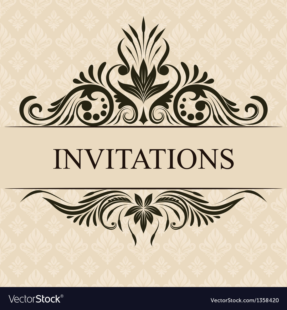 Invitations border vector | Price: 1 Credit (USD $1)