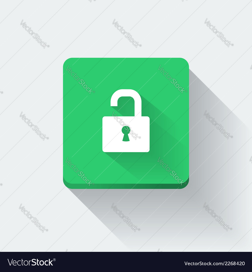 Opened lock icon vector | Price: 1 Credit (USD $1)