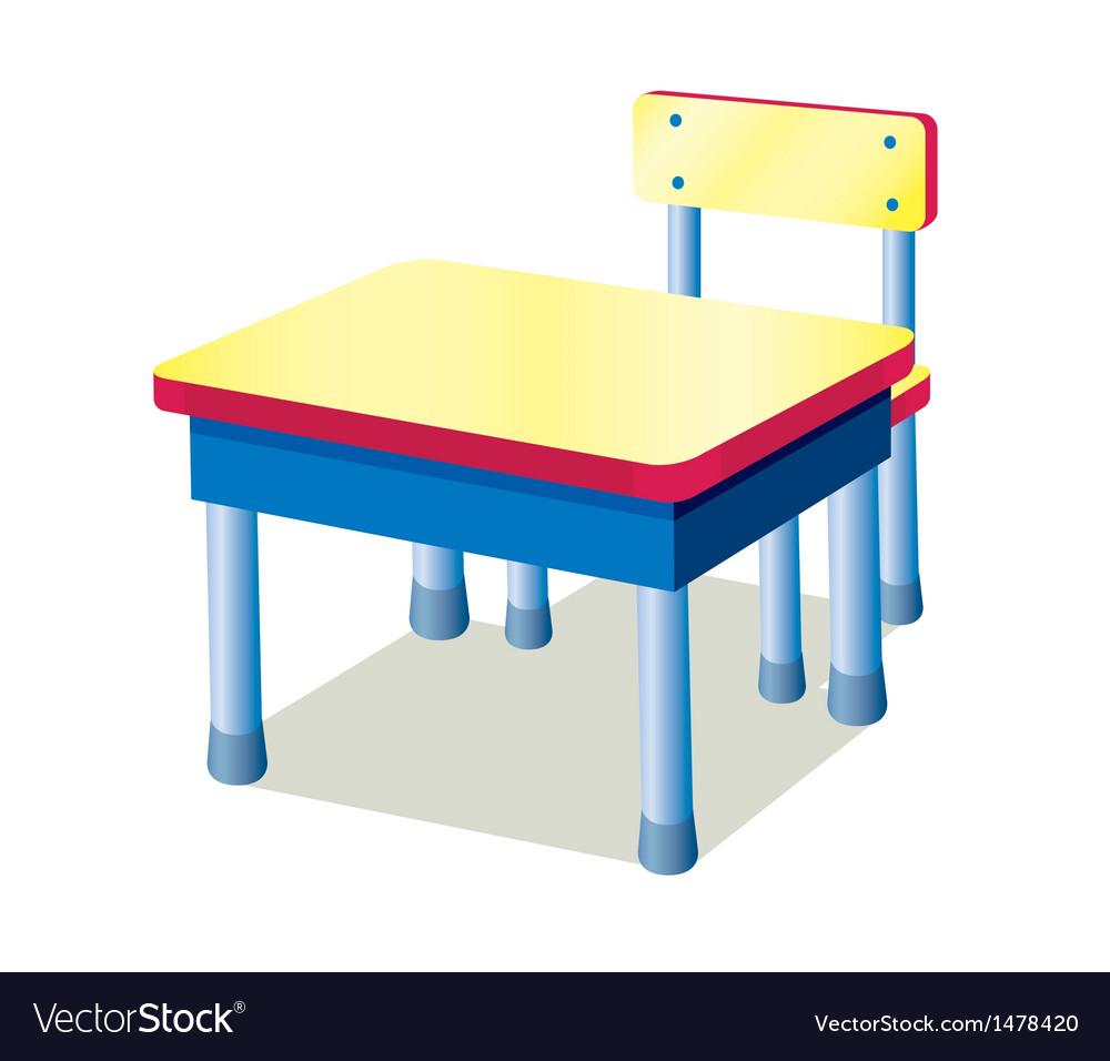 School table vector | Price: 1 Credit (USD $1)