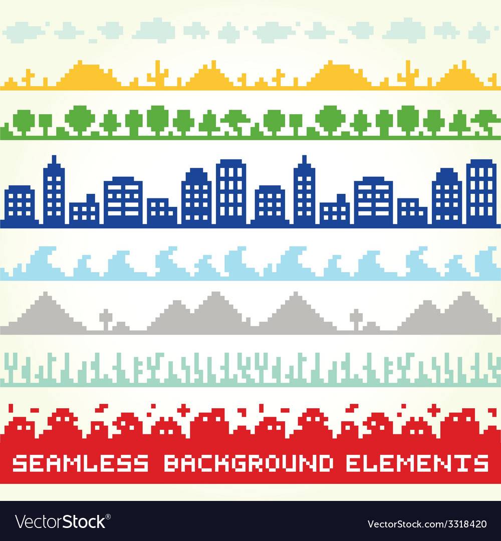 Seamless background location elements vector | Price: 1 Credit (USD $1)