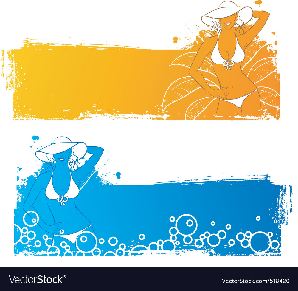 Sunny banners vector | Price: 3 Credit (USD $3)