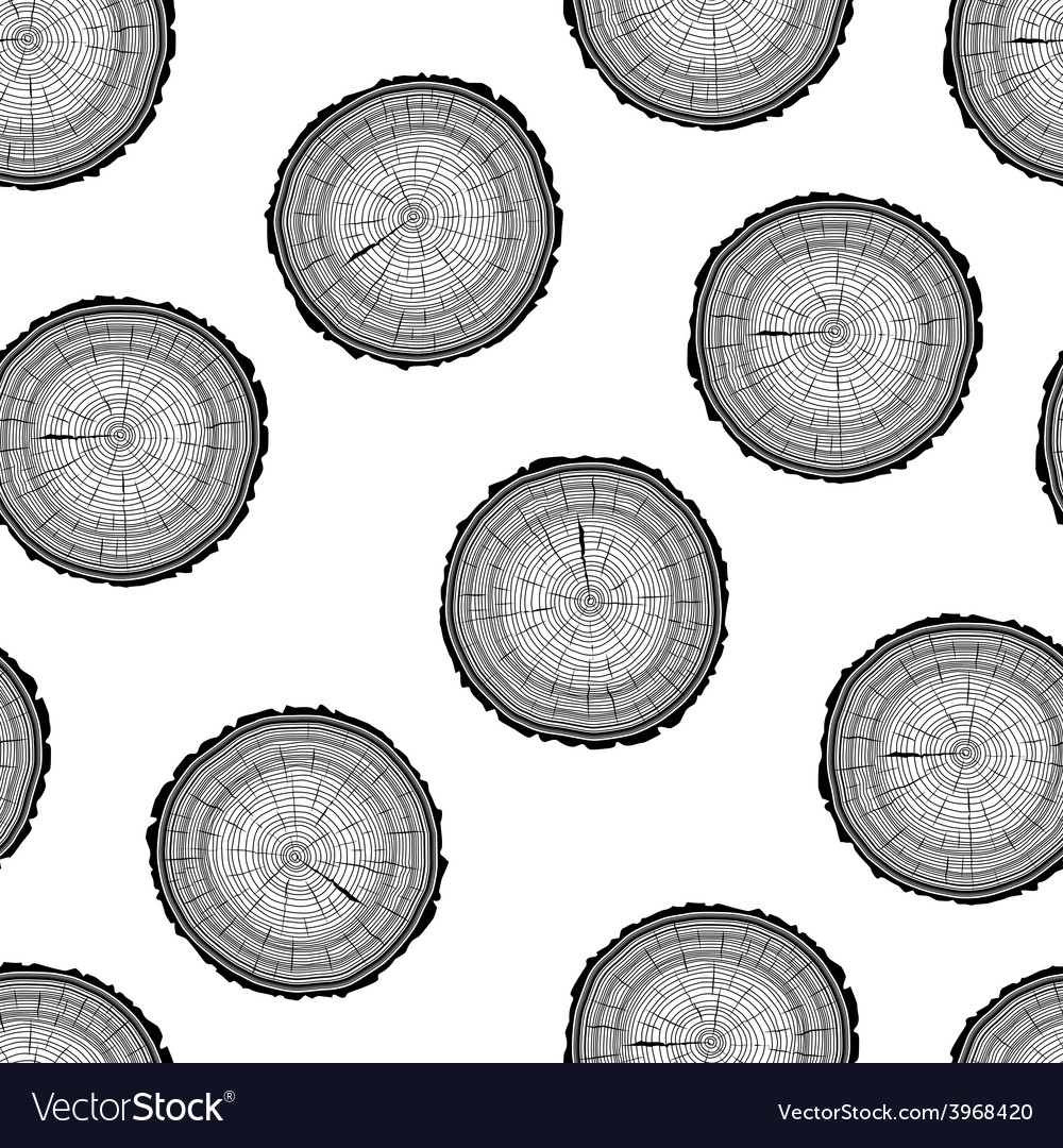 Tree rings saw cut tree trunk background seamless vector   Price: 1 Credit (USD $1)