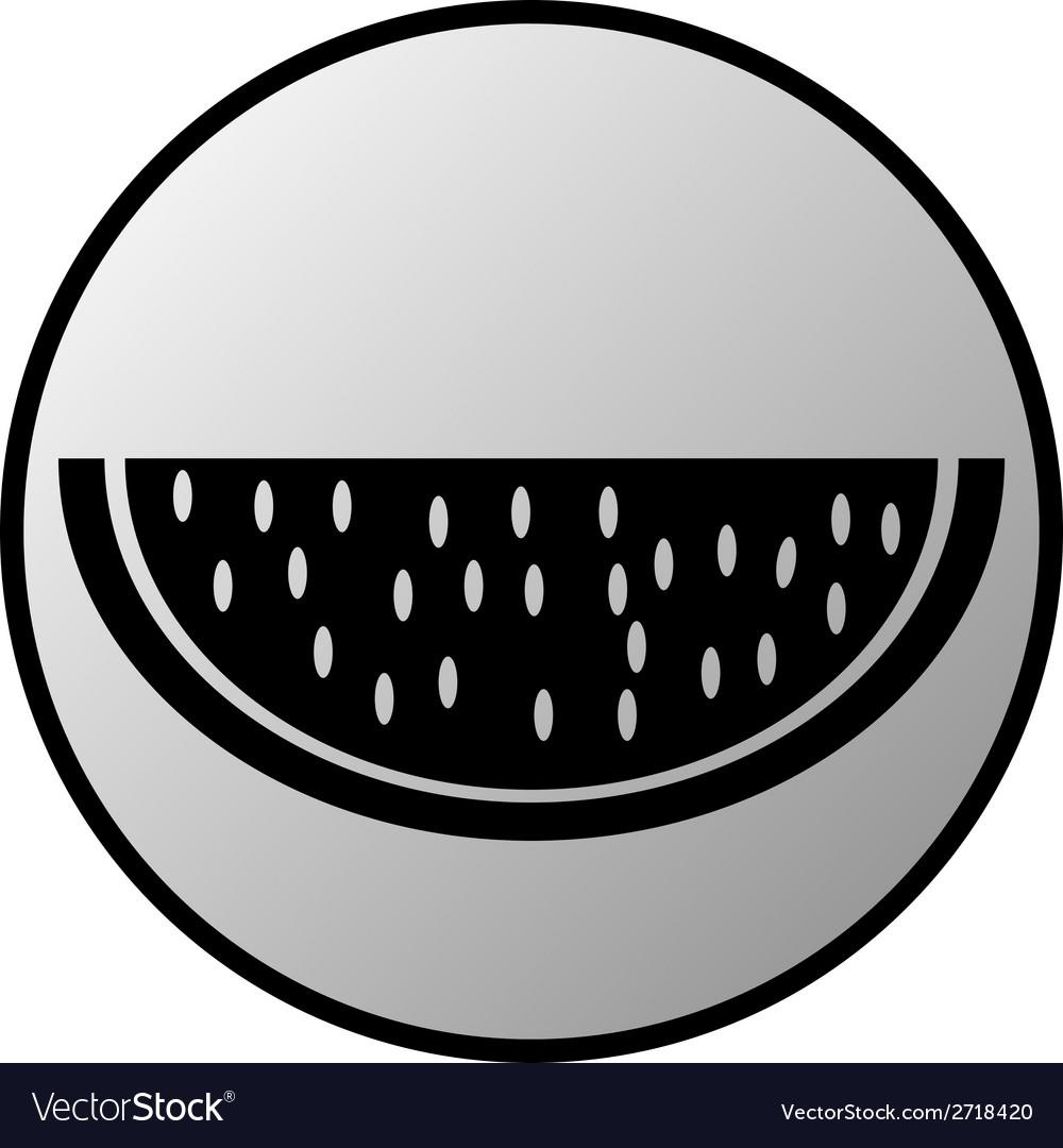 Watermelon button vector | Price: 1 Credit (USD $1)