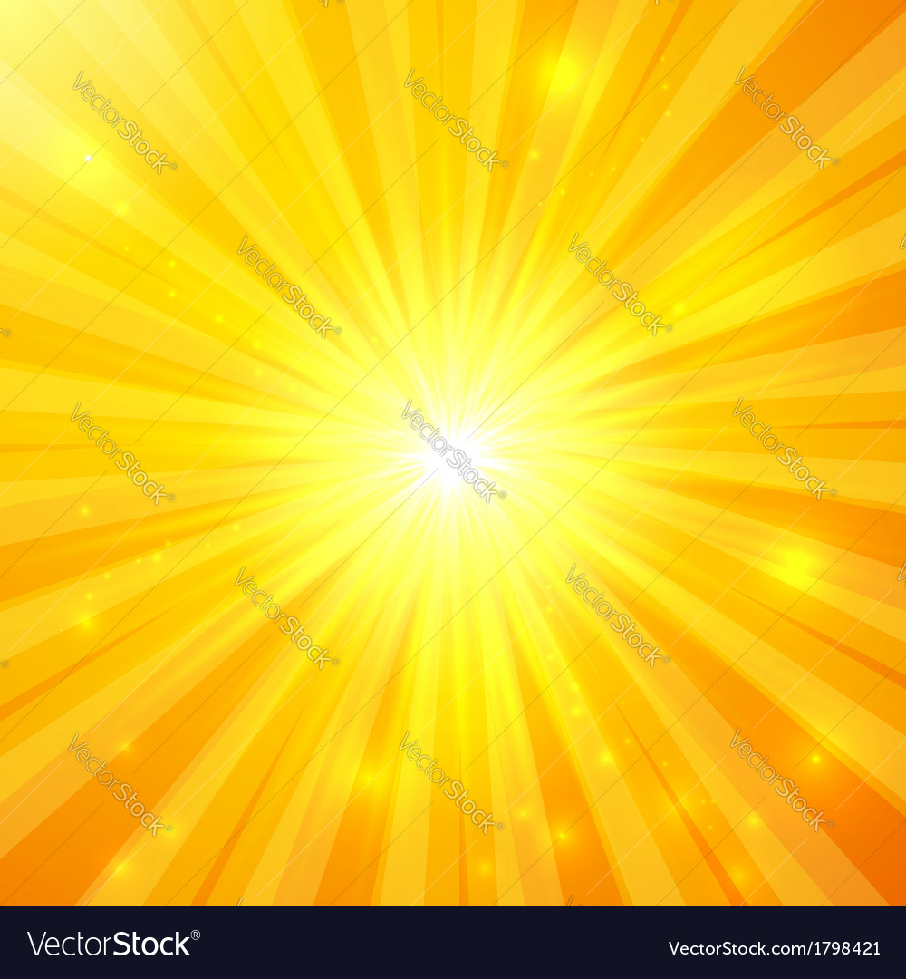Abstract yellow sunny background vector | Price: 1 Credit (USD $1)