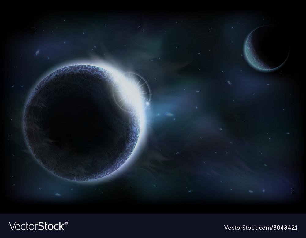 Dark planets vector | Price: 1 Credit (USD $1)