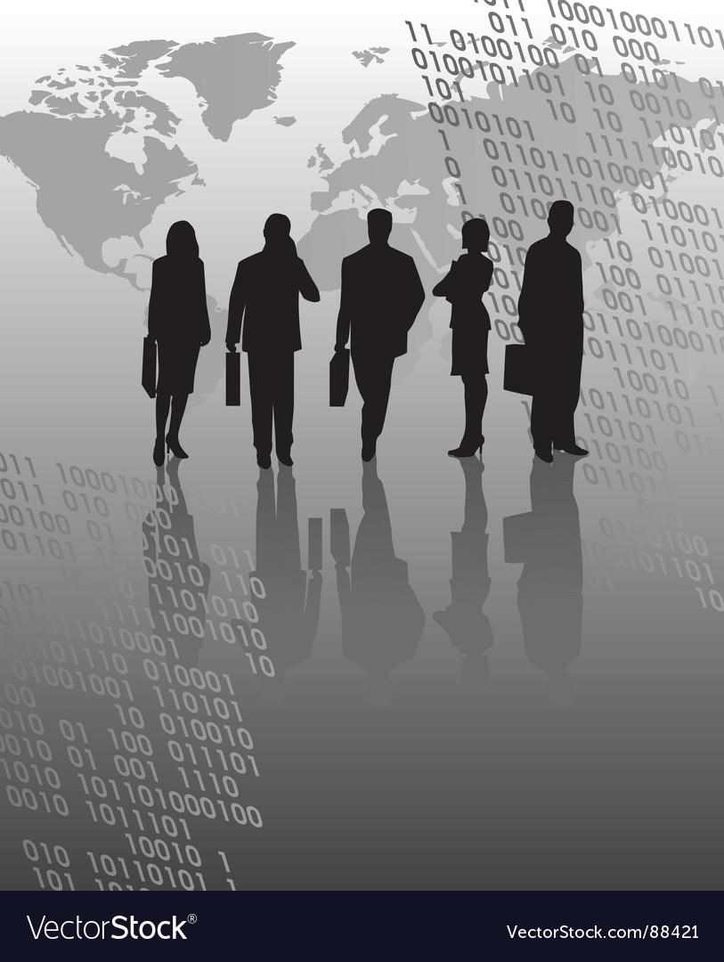 Digital business vector | Price: 1 Credit (USD $1)