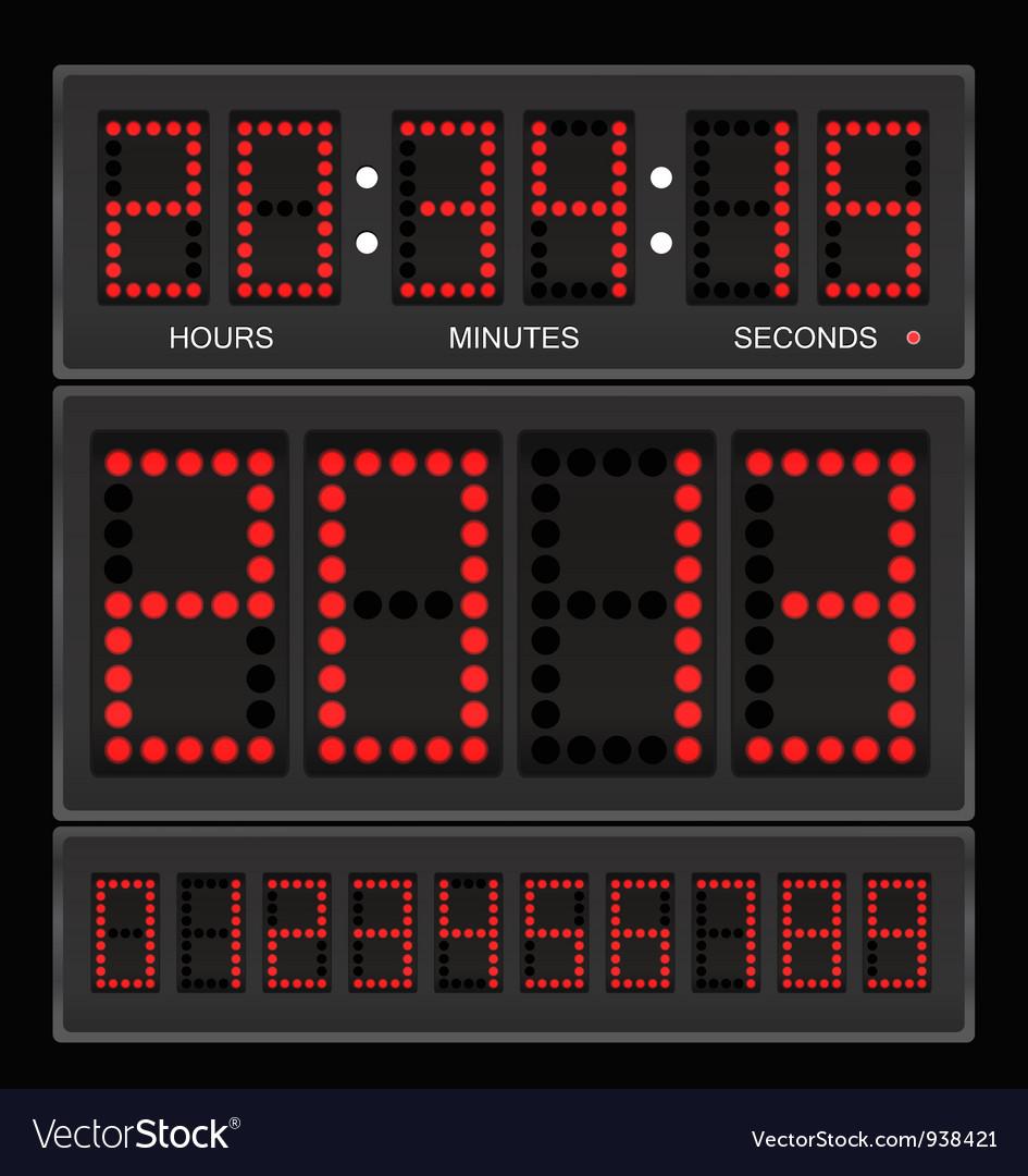 Digital clock vector | Price: 1 Credit (USD $1)