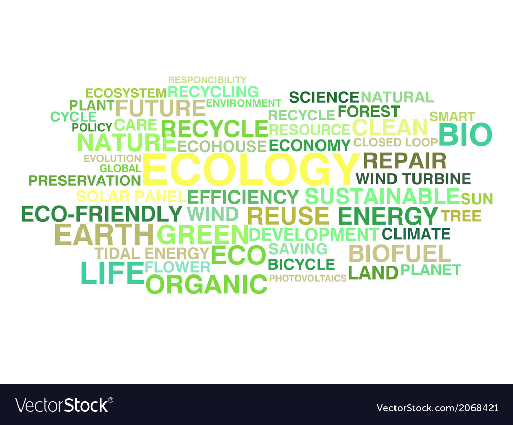 Ecology and sustainable development vector | Price: 1 Credit (USD $1)