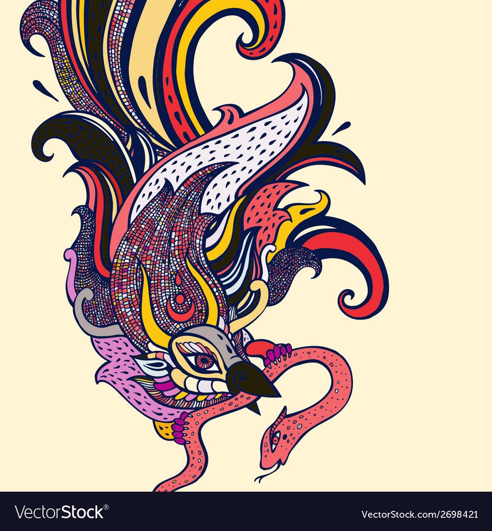 Garuda hand drawn vector   Price: 1 Credit (USD $1)