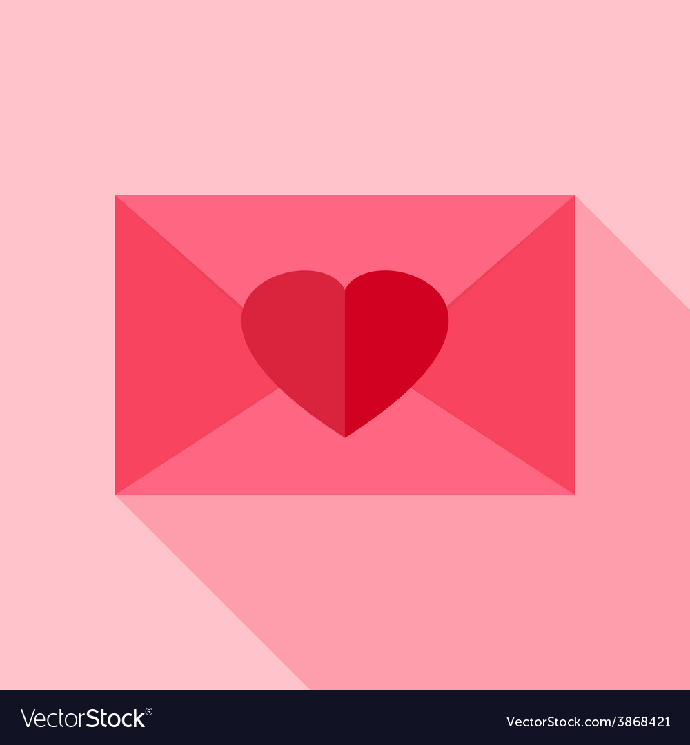 Love envelope with heart vector | Price: 1 Credit (USD $1)