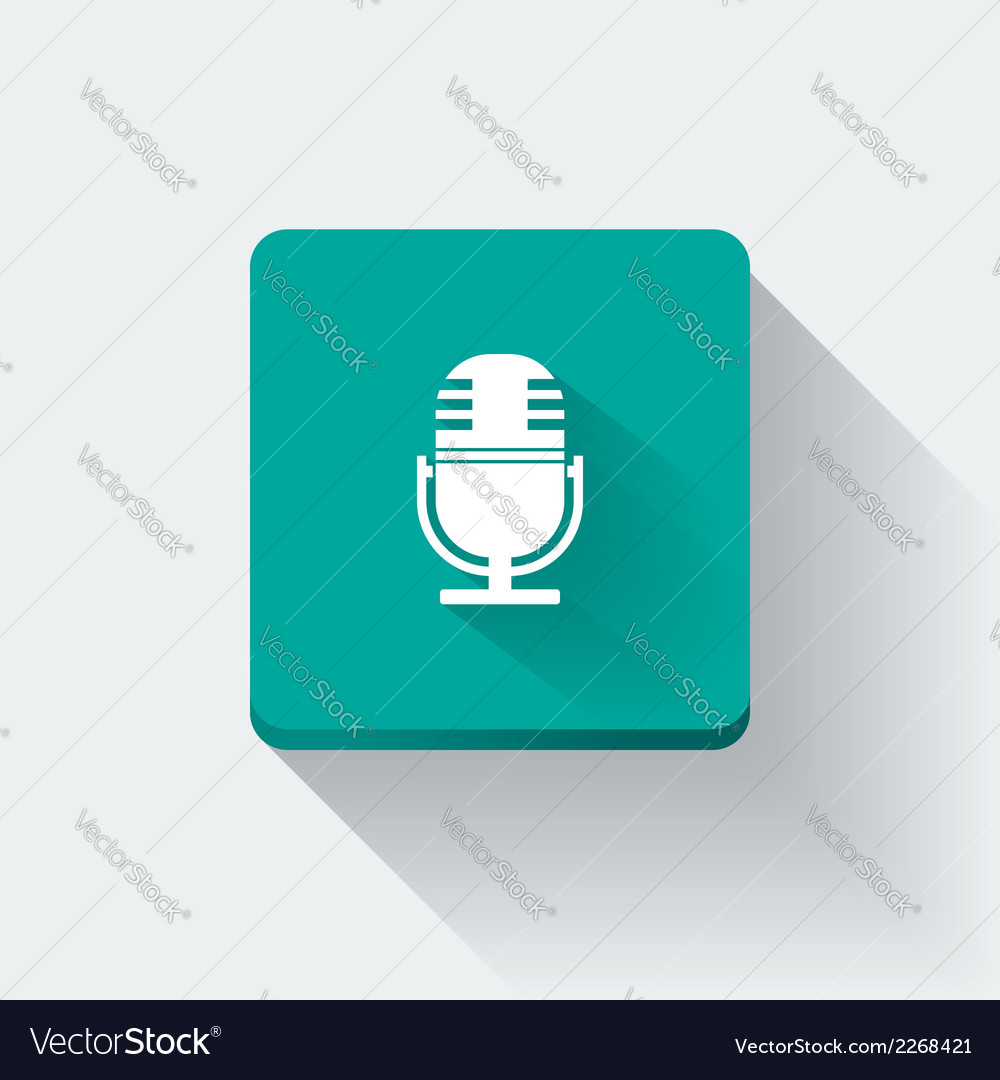 Microphone icon vector   Price: 1 Credit (USD $1)