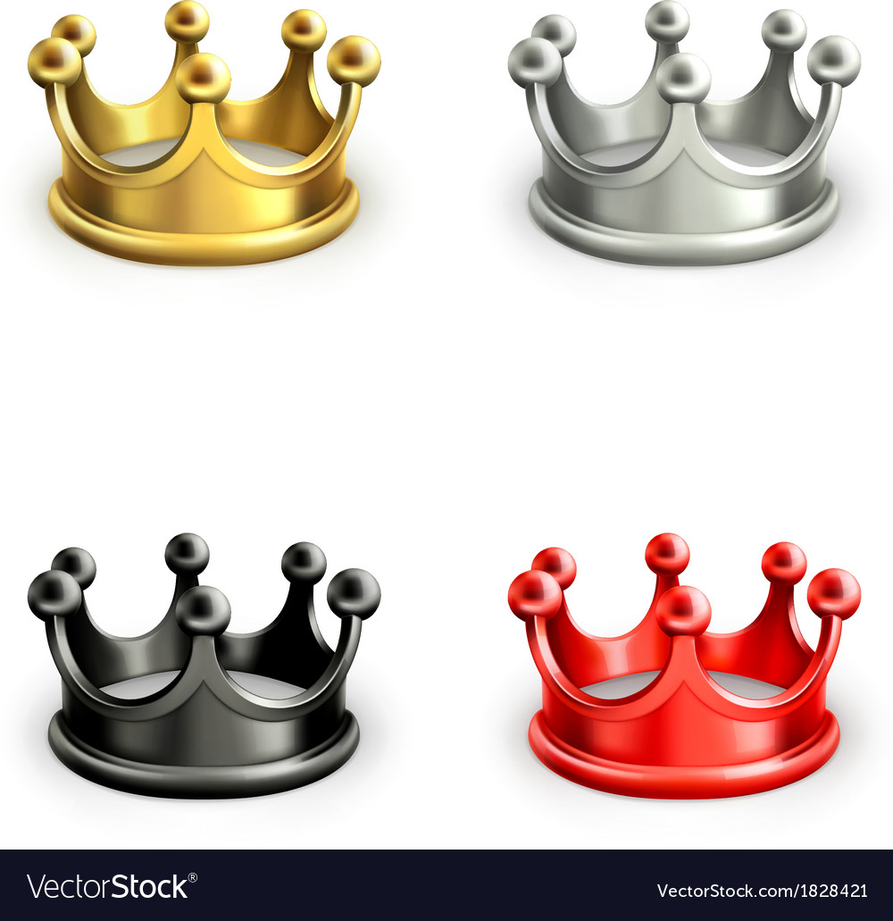 Multicolored crowns set vector | Price: 1 Credit (USD $1)