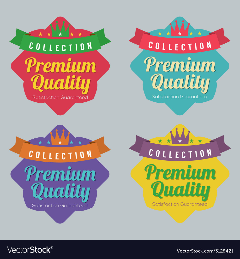 Set of colorful badge labels vector | Price: 1 Credit (USD $1)