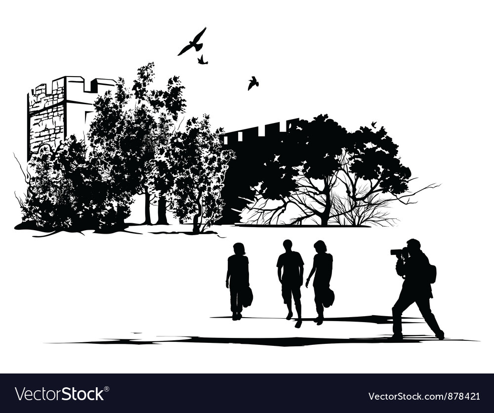 Tourist castle vector | Price: 1 Credit (USD $1)