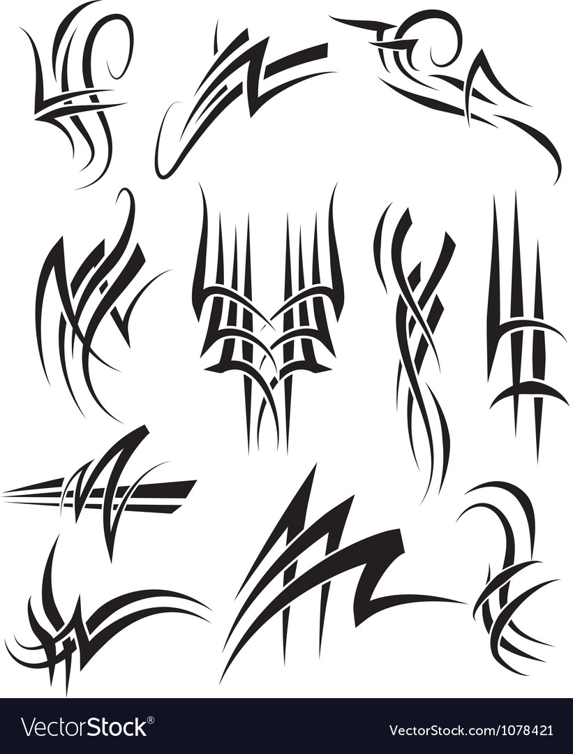 Tribal frills vector | Price: 1 Credit (USD $1)