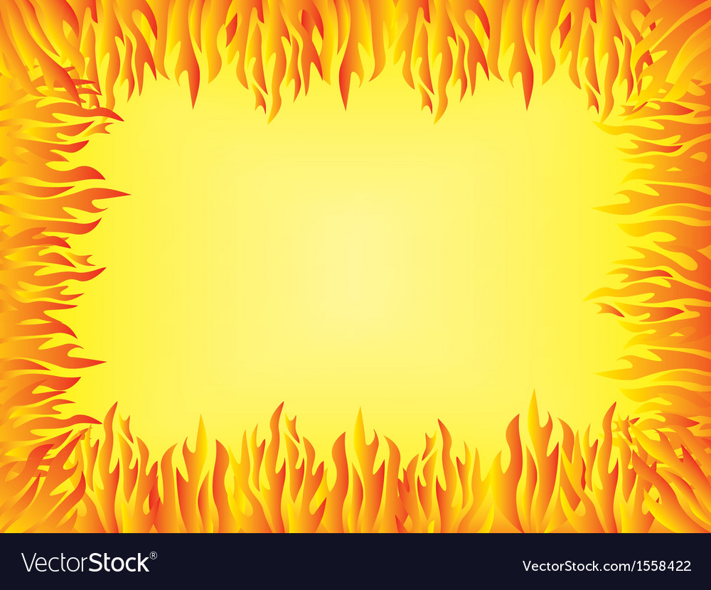Background with flames border vector   Price: 1 Credit (USD $1)