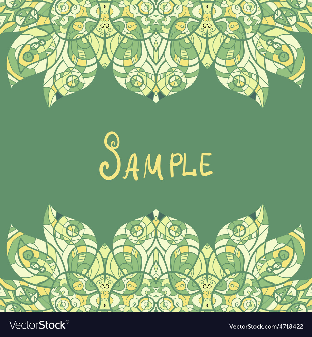 Card template for print design ethnic paisley vector | Price: 1 Credit (USD $1)