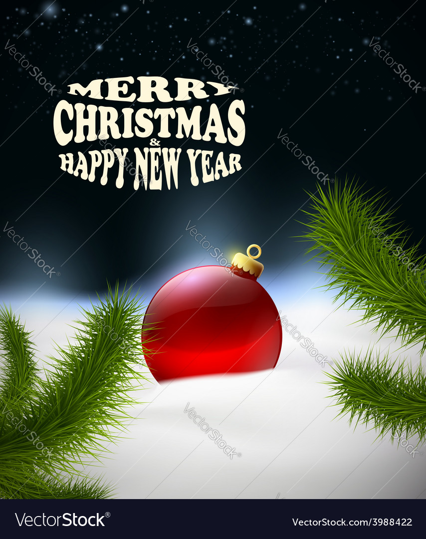 Christmas background with christmas ball in the vector | Price: 1 Credit (USD $1)