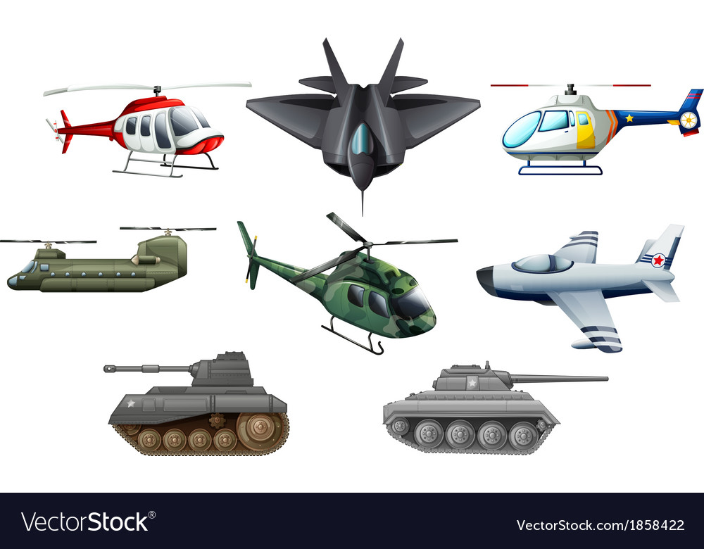 Different war transportations vector | Price: 1 Credit (USD $1)