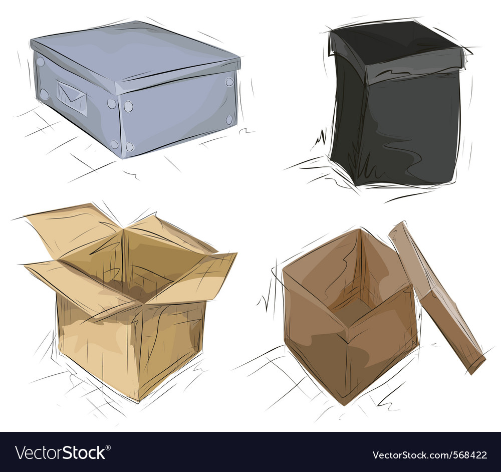 Hand drawn boxes vector | Price: 1 Credit (USD $1)