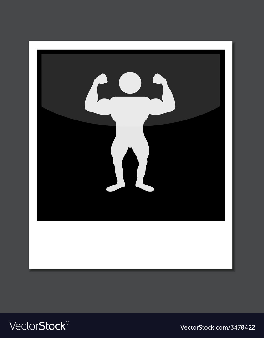 Photo icon on gray background vector | Price: 1 Credit (USD $1)