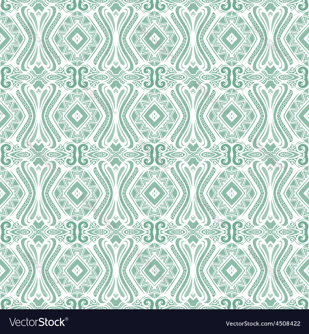 Seamless vintage lace pattern vector | Price: 1 Credit (USD $1)
