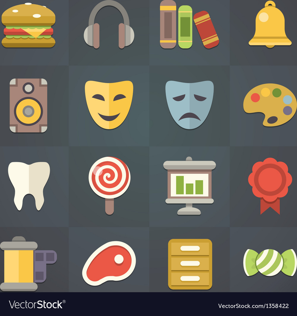 Universal flat icons for applications set 10 vector | Price: 3 Credit (USD $3)