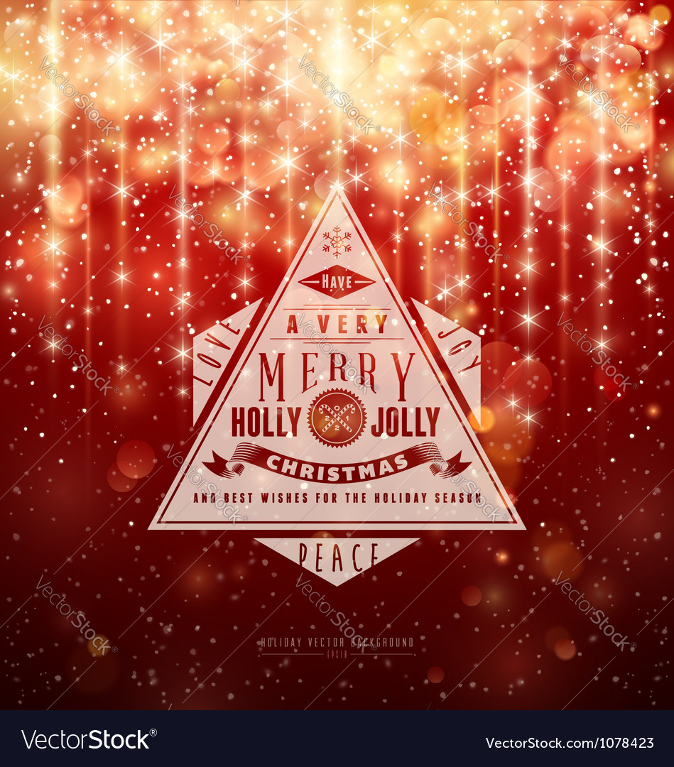 A very merry holly jolly christmas vector | Price: 1 Credit (USD $1)