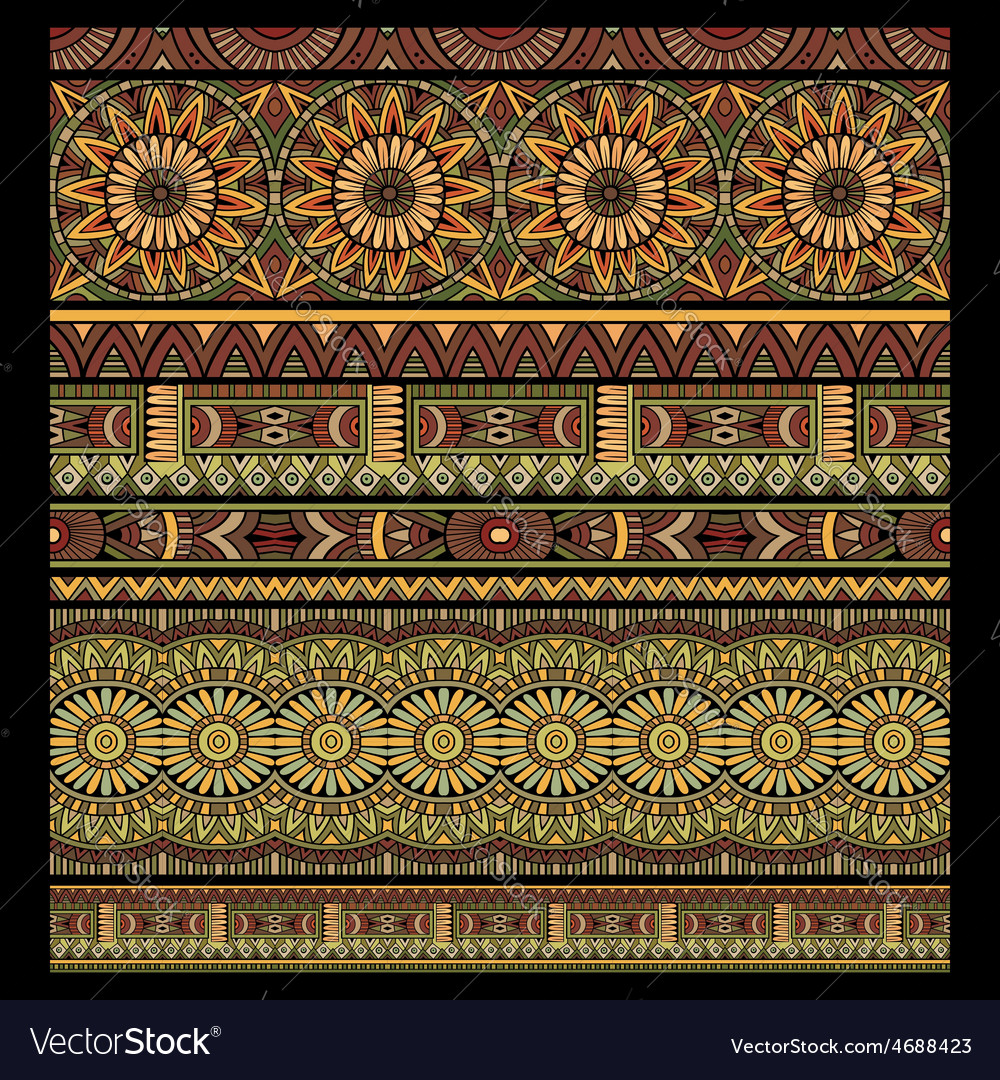 Abstract tribal stripes background set vector | Price: 1 Credit (USD $1)