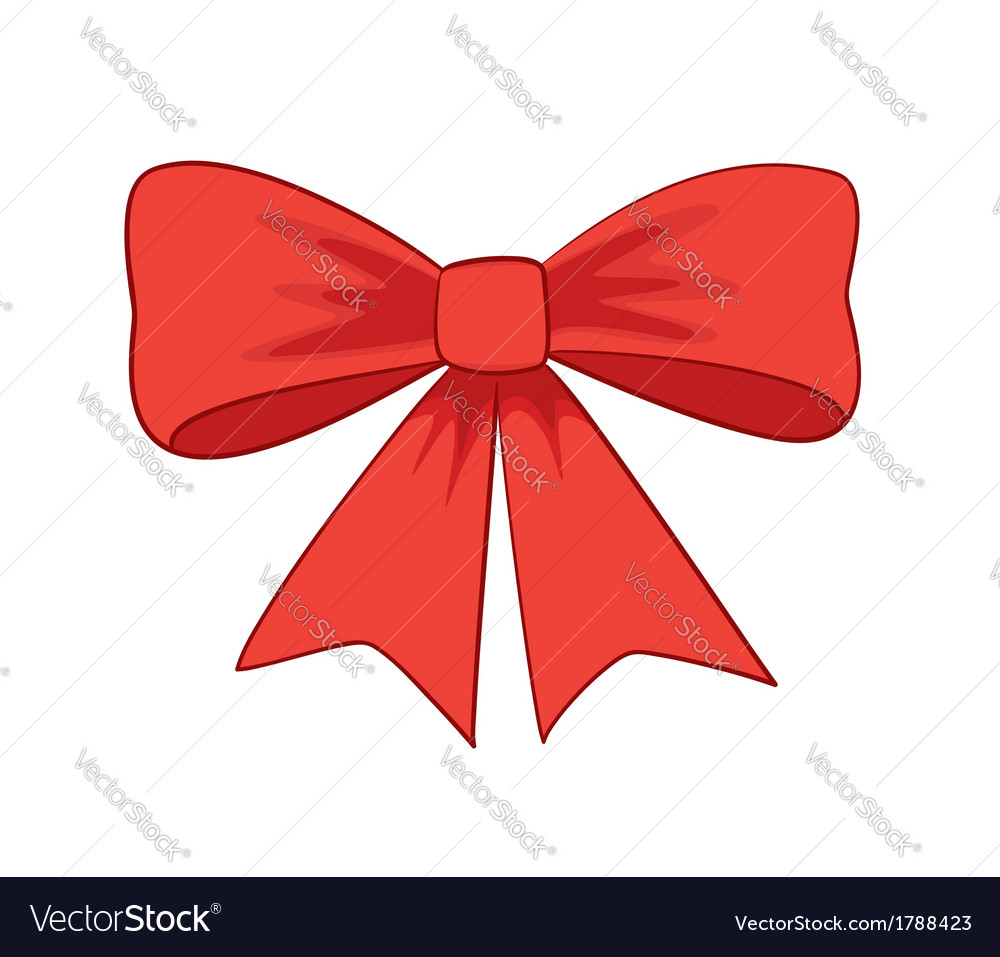 Beautiful red bowknot vector