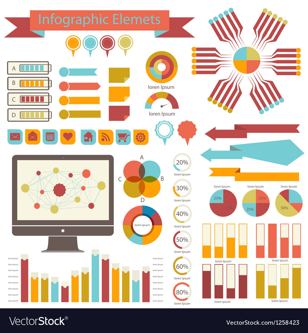 Detail infographics set information graphics vector | Price: 1 Credit (USD $1)