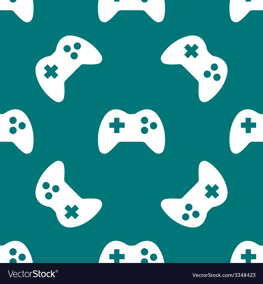 Gaming joystick web icon flat design seamless vector | Price: 1 Credit (USD $1)