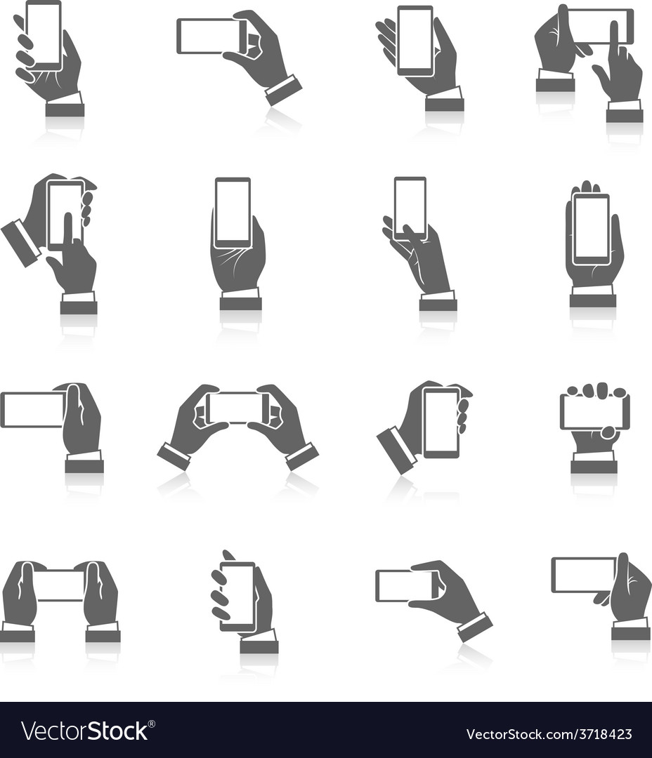Hand phone icons vector | Price: 1 Credit (USD $1)