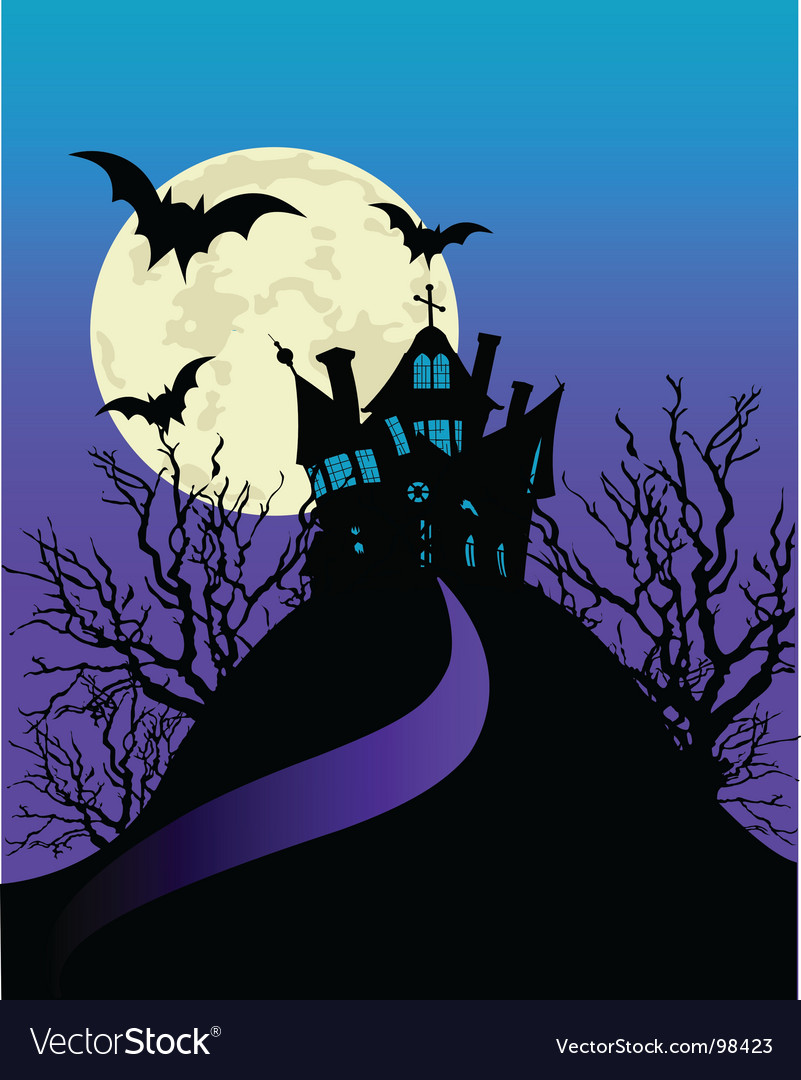 Haunted house flyer vector   Price: 1 Credit (USD $1)