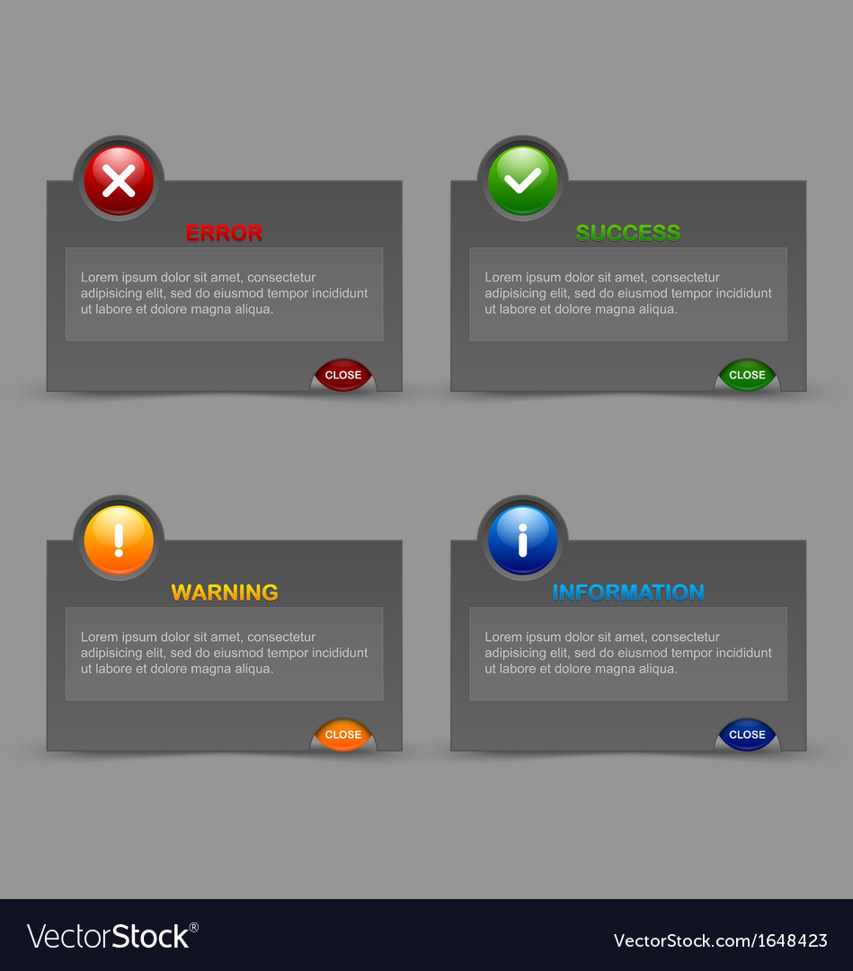 Notification windows vector | Price: 1 Credit (USD $1)