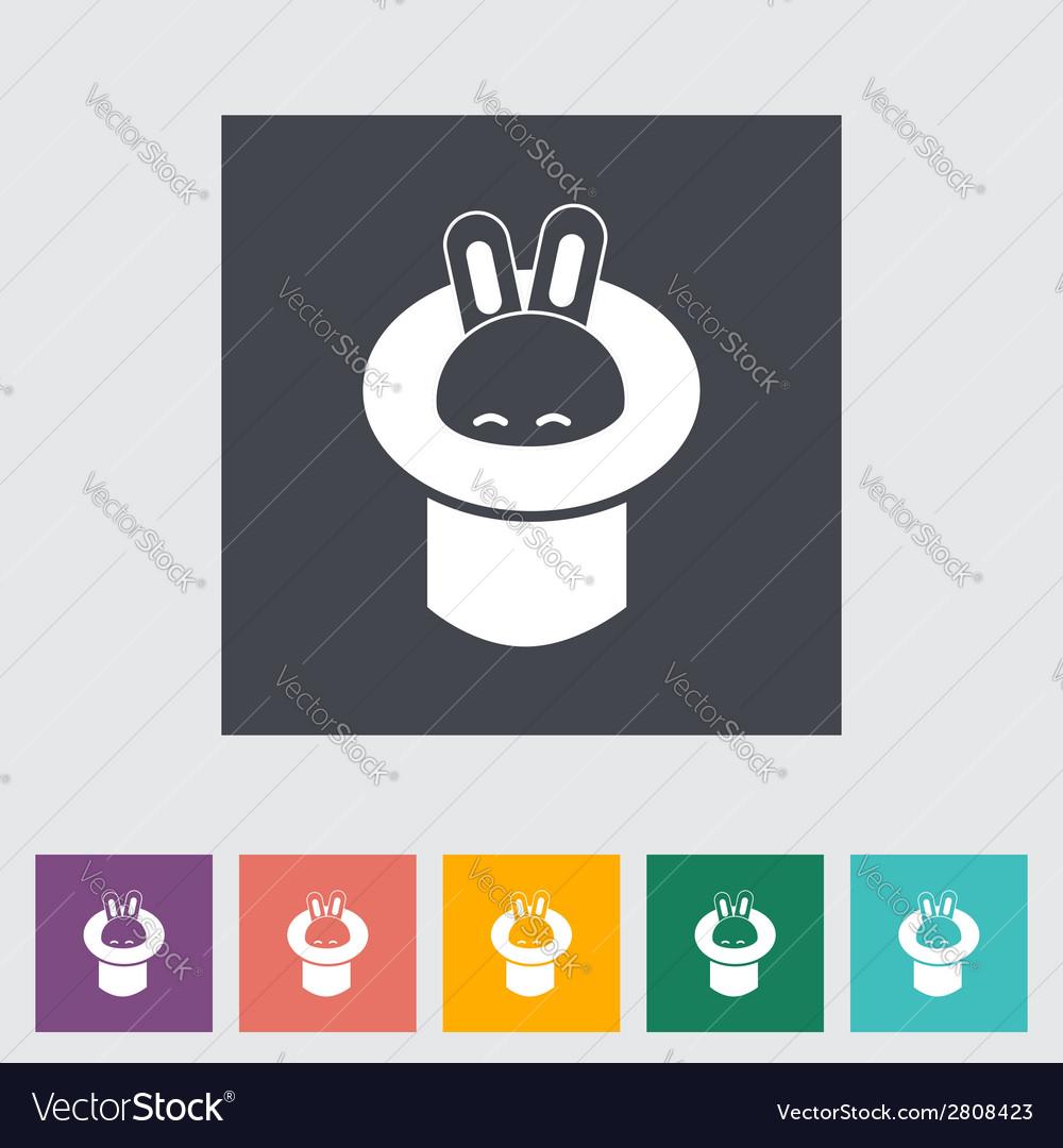 Rabbit in magician hat vector | Price: 1 Credit (USD $1)