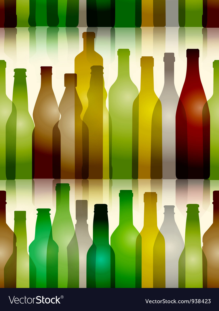 Seamless glass bottle background vector | Price: 1 Credit (USD $1)