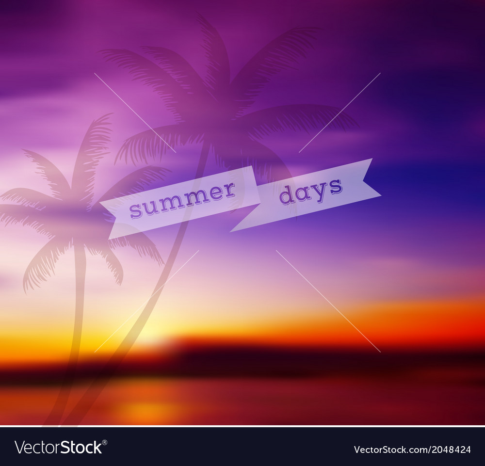 Blurred tropical background vector | Price: 1 Credit (USD $1)