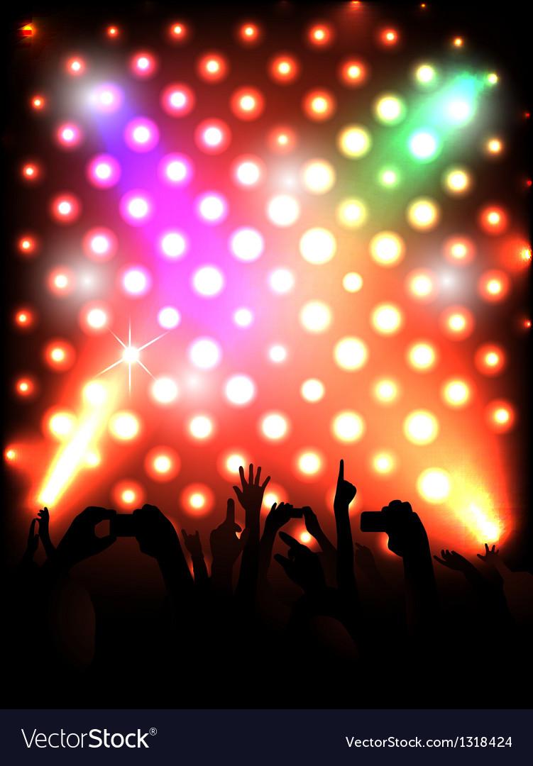 Concert crowd vector | Price: 1 Credit (USD $1)