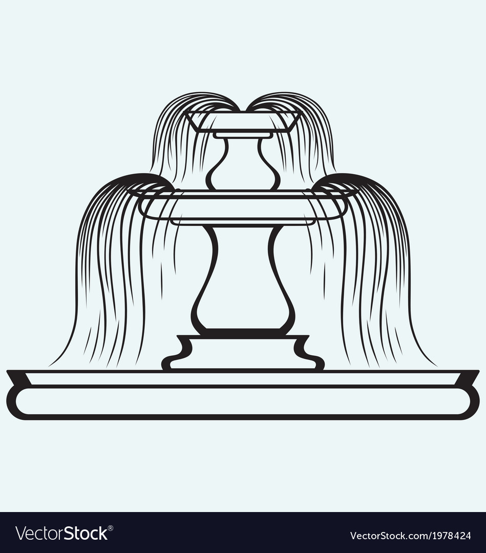 Fountain in the style of renaissance vector | Price: 1 Credit (USD $1)