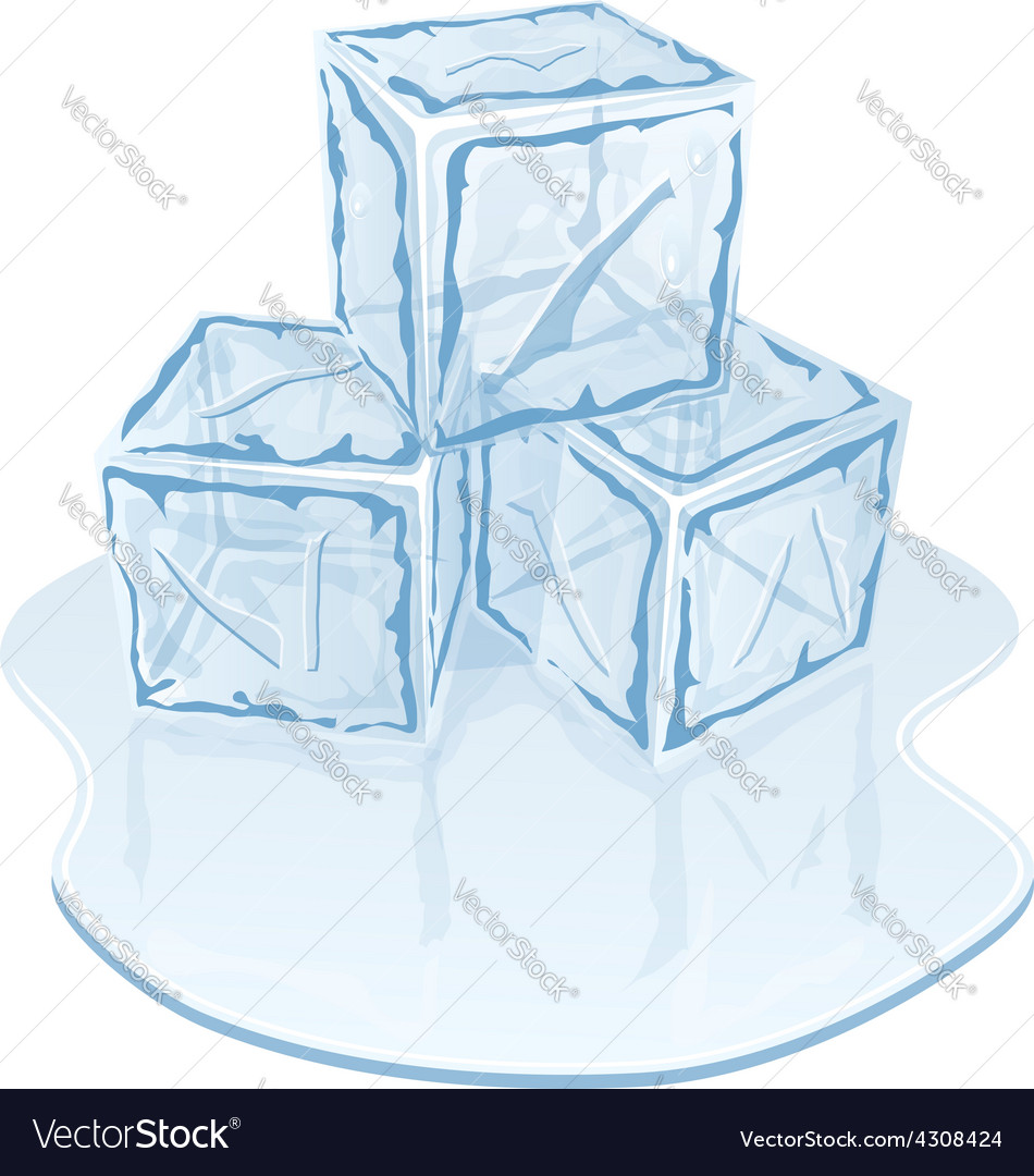 Ice cube pile vector | Price: 1 Credit (USD $1)